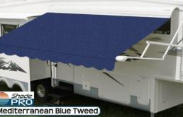 Travel'r Acrylic Mediterranean Blue Tweed with White Alumiguard