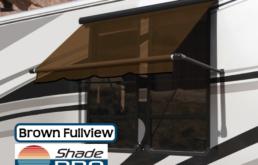 Carefree RV Window Awning Fullview Brown Uniguard