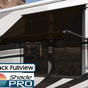 RV Window Awning Fullview Black
