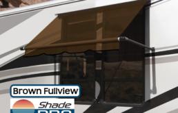 RV Window Awning Fullview Brown