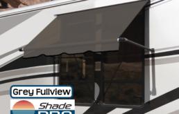 RV Window Awning Fullview Grey