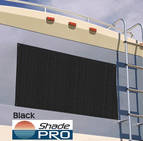 RV Window Cover Black Solar Mesh